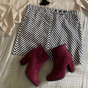 Black and White J. Crew Mini Skirt